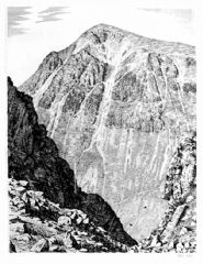 Unframed Wainwright Print - Great Gable